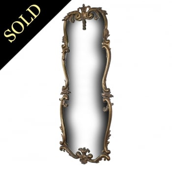 Edwardian Gilded Brass Wall Mirror