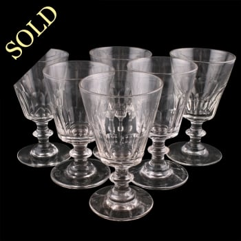 Six Mid 19th Century Wine Glasses