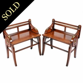 Pair of Shoolbred & Co Stools