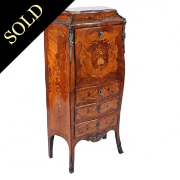 French Rosewood Secretaire Abattant