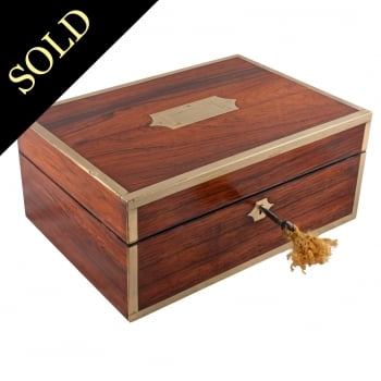 19th Century Rosewood Jewellery Box