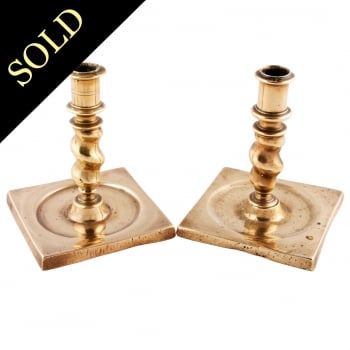 Pair of George II Candlesticks