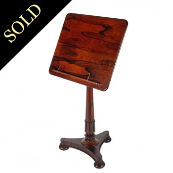 George IV Rosewood Music Stand