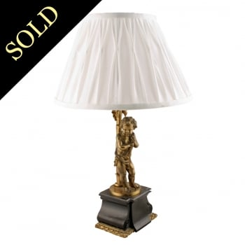 Victorian Bronze Table Lamp