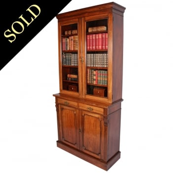 Victorian Two Door Rosewood Bookcase