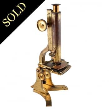 Victorian Brass Microscope by W Matthews