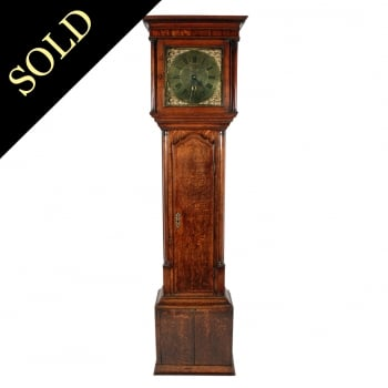18th Century Brass Dial Grandfather Clock