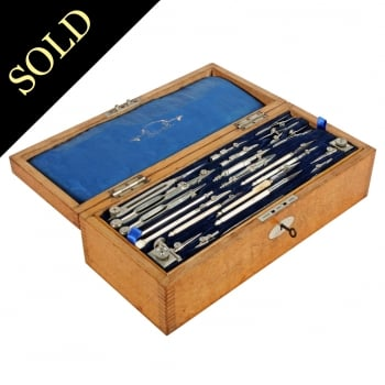 Oak Cased Stanley Drawing Instruments