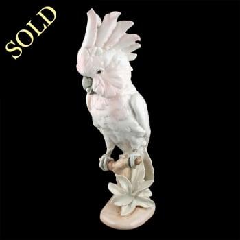 Royal Dux Porcelain Cockatoo