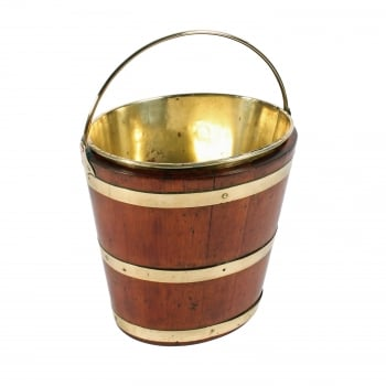 Dutch Mahogany & Brass Bucket