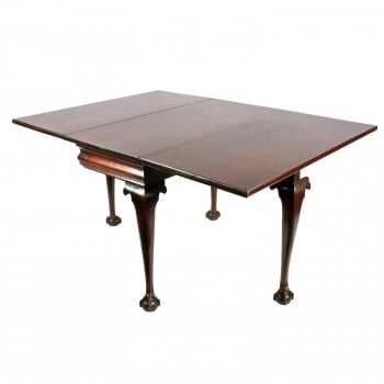 18th Century George II Walnut Drop Leaf Table