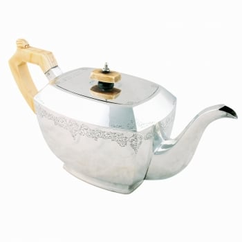 George VI Art Deco Sterling Silver Teapot SOLD