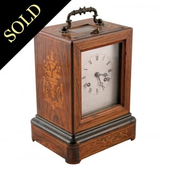 French Rosewood Table Clock