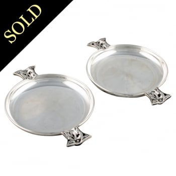 Pair of Scottish Sterling Silver Wine Tasters