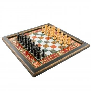 Carved Wood Chess Set SOLD