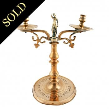 Large Continental Brass Candelabra