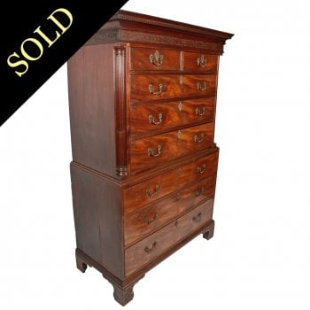 Fine Chippendale Chest on Chest