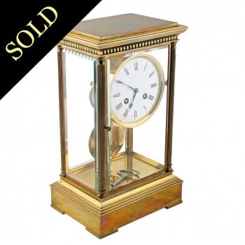 Victorian Four Glass Mantel Clock