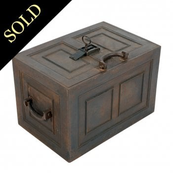 19th Century Steel Strong Box
