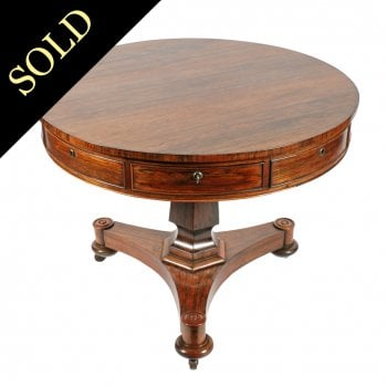George IV Rosewood Drum Table