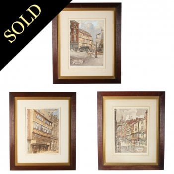 Three Lithographs of Newcastle