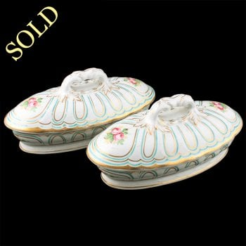 Pair of Victorian Soap & Brush Dishes