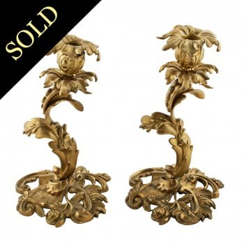 Pair of 19th Century Ormolu Candlesticks