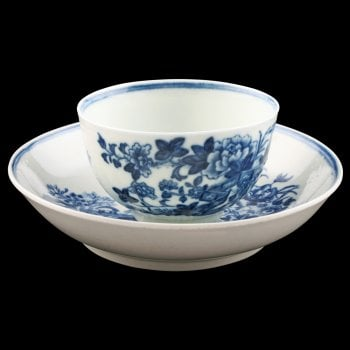 First Period Worcester Tea Bowl & Saucer
