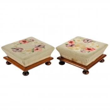 Pair of Rosewood Foot stools