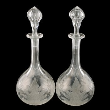 Pair of Victorian Decanters