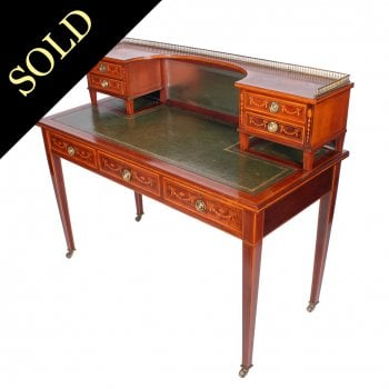 Edwardian Inlaid Mahogany Writing Table