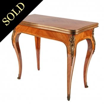 French Kingwood  Card Table