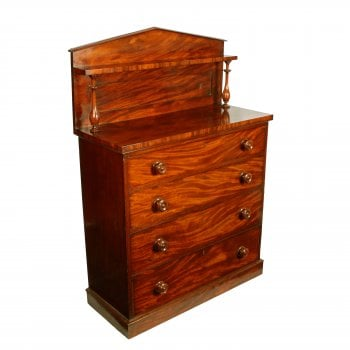 Unusual Victorian Mahogany Chest