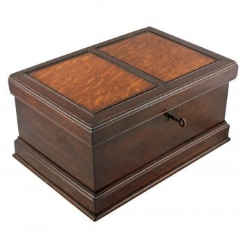 Miniature Walnut & Oak Blanket Box