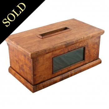 Victorian Maple Table Letter Box