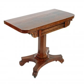 William IV Turn Over Card Table