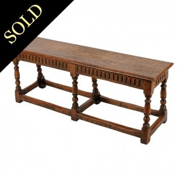 17th Century Style Oak Long Stool