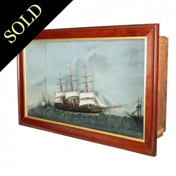 19th Century Three Ship Diorama