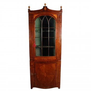18th Century Bow Double Corner Cupboard