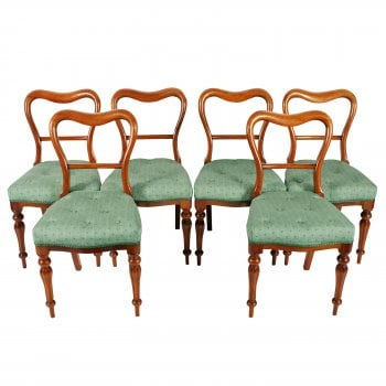 Set of Six Walnut Chairs SOLD