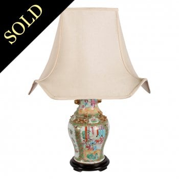 Chinese Canton Porcelain Table Lamp