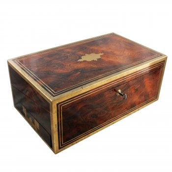 Regency Rosewood Brass Bound Box Desk SOLD