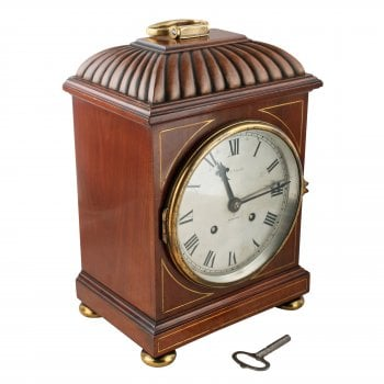 Regency Style Mahogany Bracket Clock