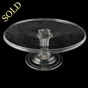 Large Georgian Glass Tazza