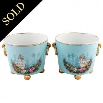 Pair of KPM Porcelain Cachepot