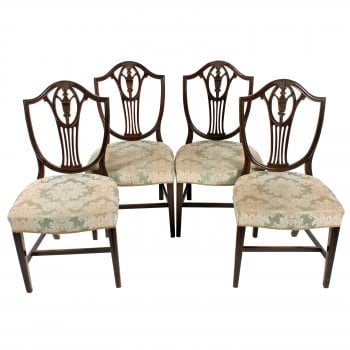 Set of Four Hepplewhite Style Chairs