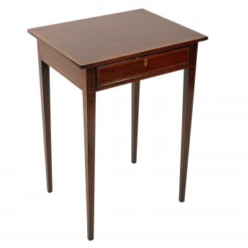 Georgian Mahogany One Drawer Lamp Table