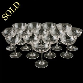 14 French Champagne Glasses