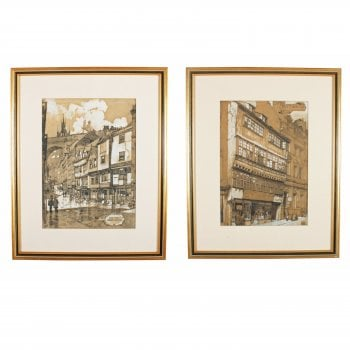Two Lithograph Prints of Newcastle SOLD
