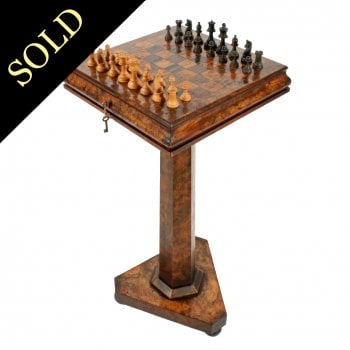 William IV Walnut Games Table